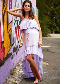 Queen Bee Gypsy Maternity Dress in Lilac by Fillyboo