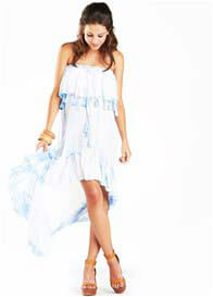 Fillyboo - Gypsy Dress in Sky Tie Dye with Tassels