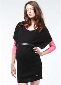 Queen Bee Plymouth Black Maternity Knit Sweater Tunic by Noppies