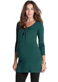 Esprit - Keyhole Nursing Tunic in Peacock Green