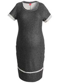 Queen Bee Black Maternity Knit Sweat Dress by Esprit