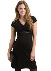 Queen Bee Short Sleeve Maternity Cocktail Dress in Black by Esprit