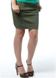Queen Bee Chevak Khaki Green Maternity Cargo Skirt by Noppies