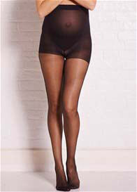 Queen Bee Black Sheer Maternity Tights by Noppies