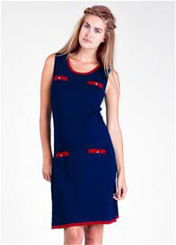 Queen Bee Chanel Maternity Dress in Navy by Fragile Maternity