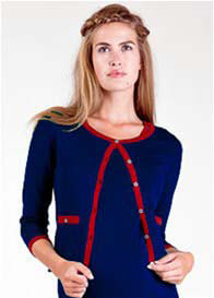 Fragile - Chanel Cardigan in Navy -  ON SALE