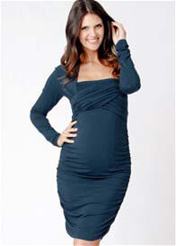 Ripe Maternity - Harper LS Nursing Dress in Kale