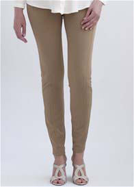Queen Bee San Diego Maternity Treggings in Camel by Slacks & Co