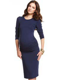 Queen Bee Tres Jolie Navy Maternity Dress by More of Me