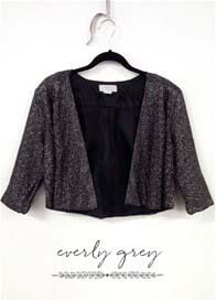 Everly Grey - Ruby Jacket in Silver Shimmer
