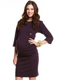Queen Bee Gracie Purple Maternity Dress by More of Me
