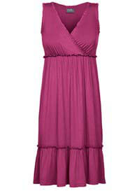 Milk Nursingwear - Cranberry Ruffle Nursing Nightgown