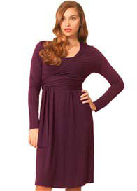 Milk Nursingwear - Wine Wrap Nursing Dress