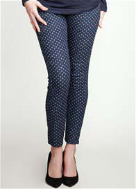 Queen Bee Polka Dot Skinny Maternity Jeans by Maternal America