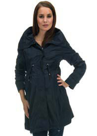 Queen Bee Minty Navy Blue Maternity Parka Coat by Noppies