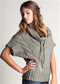 Queen Bee Dusty Jadeite Cowl Knit Top by LA Made