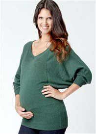 Ripe Maternity - Batwing Knit Top in Alpine Green