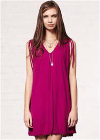 Queen Bee St Lucia Gather Tunic in Boysenberry by Mesop