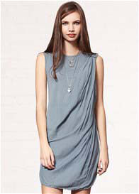 Queen Bee Angel Falls Tunic Dress in Graphite by Mesop
