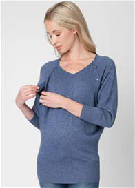 Ripe Maternity - Angora Nursing Jumper in Denim Blue
