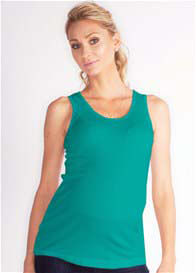 Queen Bee Lana Green Maternity Tank Top by LA Made