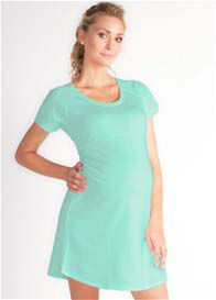 Queen Bee Raquel Mint Green Maternity Dress by LA Made