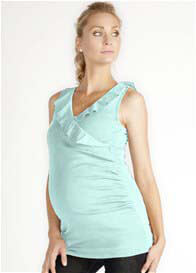 LA Made - Pale Mint Blue Ruffle Top - ON SALE