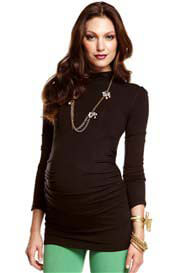 Queen Bee Maxwell Black Turtleneck Maternity Top by More of Me