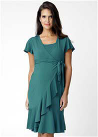 Ripe Maternity - Nile Green Tango Nursing Dress