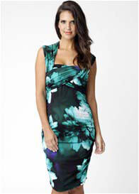 Ripe Maternity - Green Floral Harper Nursing Dress
