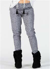 Fillyboo - Anja Pants in Charcoal Leopard