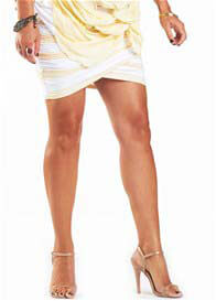 Fillyboo - Electric Dreams Skirt in Cream Stripes