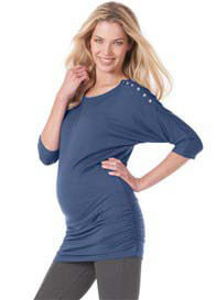 Seraphine - Saskia Nursing Top in Steel Blue