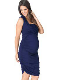 Queen Bee Sapphire Blue Harper Maternity/Nursing Dress by Ripe Maternity