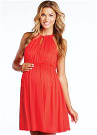Maternal America - Red Halter Tie Dress