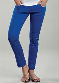 Queen Bee Royal Blue Skinny Maternity Jeans by Maternal America