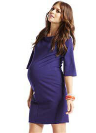 Queen Bee Florence Maternity Dress in Blue by More of Me