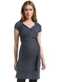 Queen Bee Small Square Patterned in Dark Blue Maternity Dress by Noppies