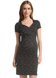 Queen Bee Zarita Black Polkadot Maternity Dress by Noppies