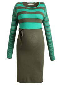 Queen Bee Laurel Candy Green Striped Maternity Knit Dress by Esprit