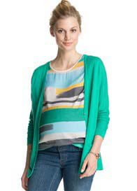 Queen Bee Candy Green Maternity Knit Cardigan by Esprit