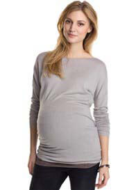 Queen Bee Cement Grey Maternity Knit Jumper by Esprit