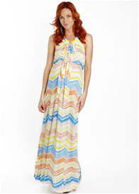 Queen Bee Harmony Maternity Maxi Dress in Watercolour by Everly Grey