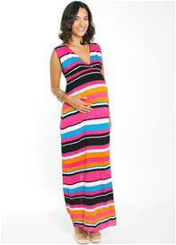 Everly Grey - Jill Maxi Dress in Multi Stripes