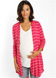 Everly Grey - Sherman Cardigan in Fuchsia Stripes