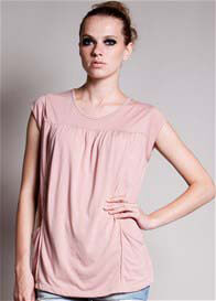 Dote - Lindsay Pocket Nursing Top in Blush