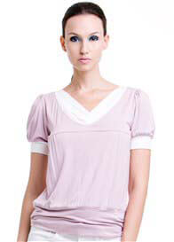 Dote - Slate Nursing Top in Lilac