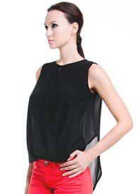 Dote - Nicole Nursing Top in Black