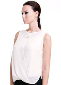 Queen Bee Nicole Nursing Top in Cream by Dote Nursingwear