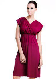 Queen Bee Twinkle Nursing Dress in Wine by Dote Nursingwear